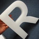 Обемни букви рязани на фреза