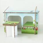 Детска къщичка от рециклиран картон - плоскости ReBoard