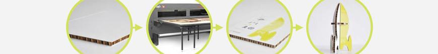 Печат върху плоскости от рециклиран картон