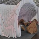 Щанд и мебели направени от Reboard